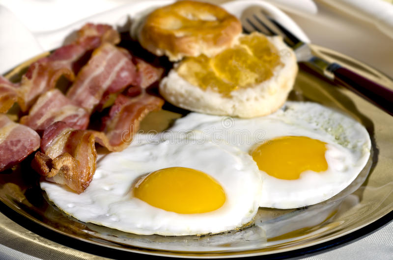 Download Breakfast Outside stock photo. Image of meat, yolk, pork - 22450358