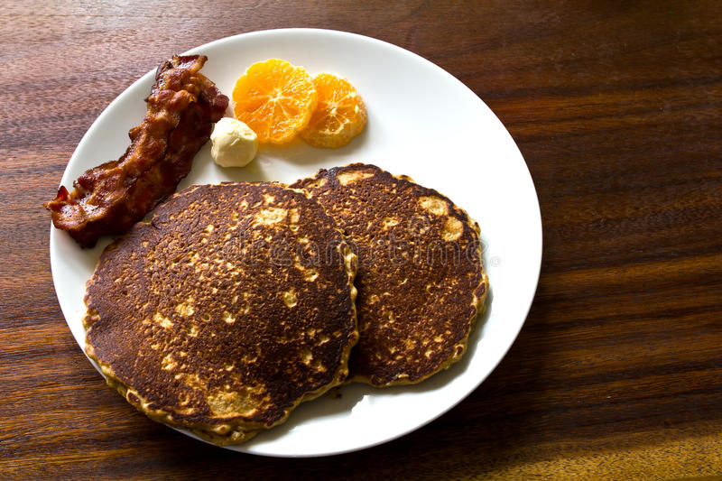 Breakfast pancakes royalty free stock photography