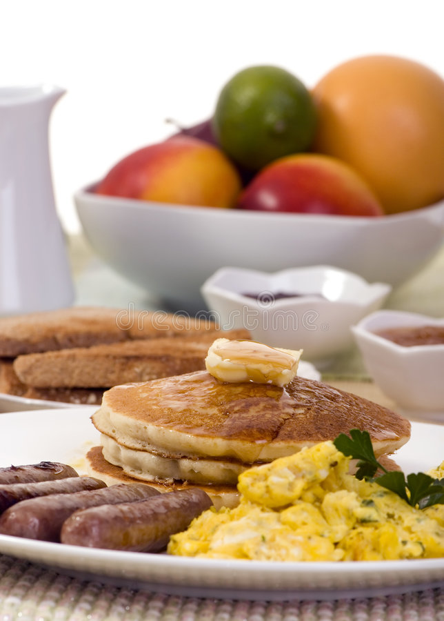 Download Breakfast Pancakes stock image. Image of links, object - 2984297
