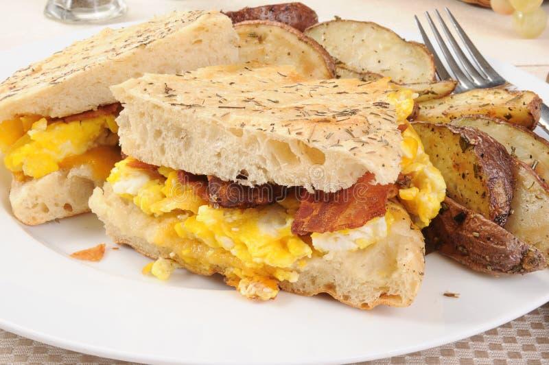 Download Breakfast Panini stock image. Image of crispy, cheese - 24690053