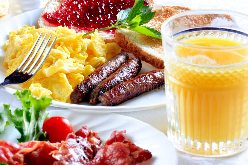 Breakfast plate royalty free stock images