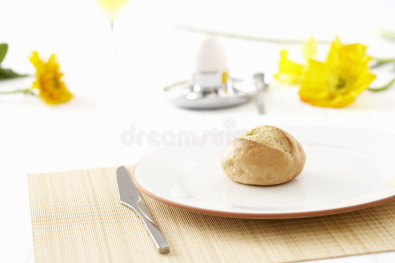 Download Breakfast roll stock image. Image of flower, focus, plate - 7675873