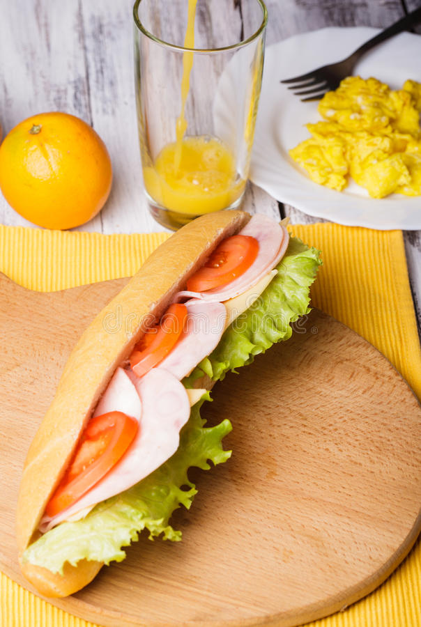 Download Breakfast with a sandwich stock photo. Image of fried - 28697882