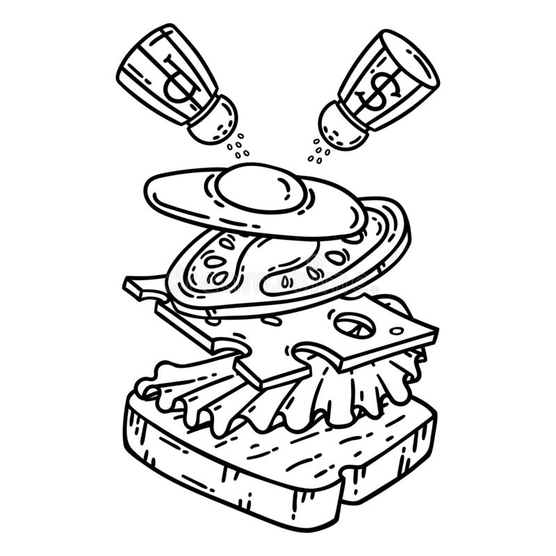 The Big Sandwich Junk Food Coloring Page For Kids   Food coloring ...   800x800