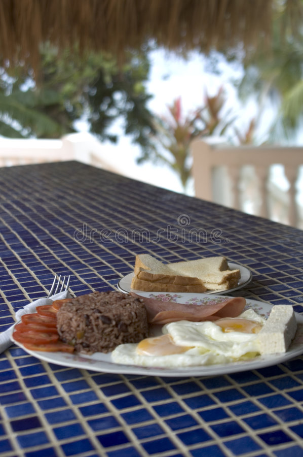 Breakfast By The Sea Stock Photography