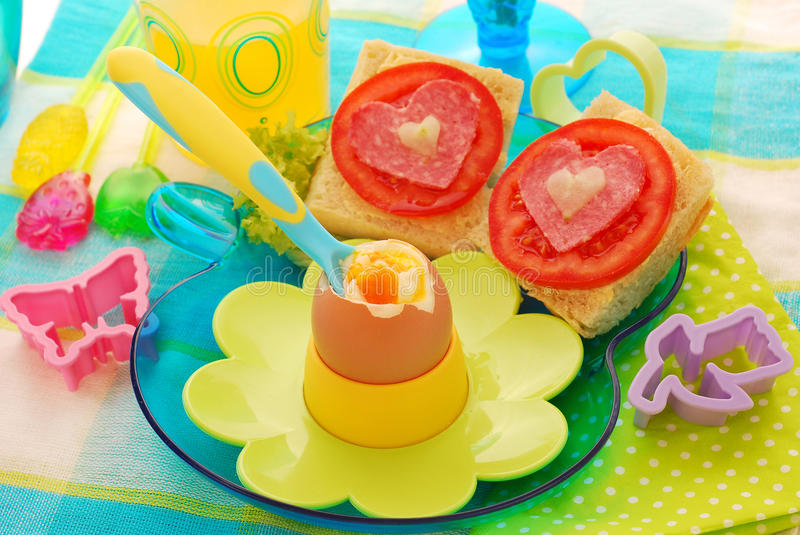 Download Breakfast With Soft Boiled Egg For Child Stock Image - Image: 21707499