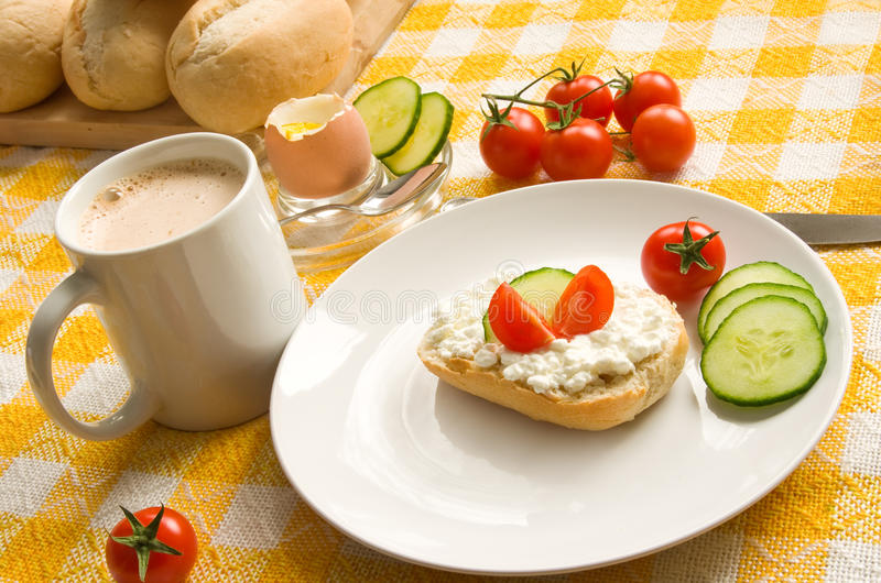 Download Breakfast table stock photo. Image of cucumbers, spoon - 12860918