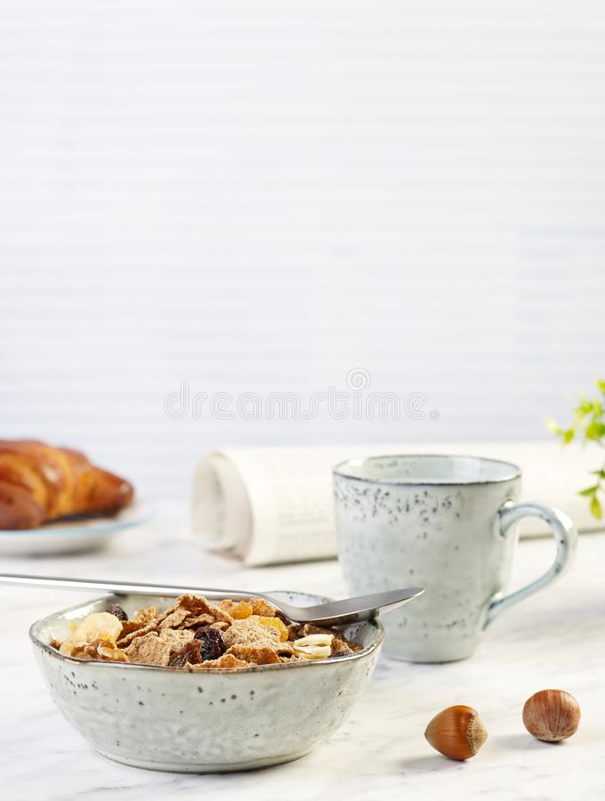 Breakfast on table royalty free stock photos