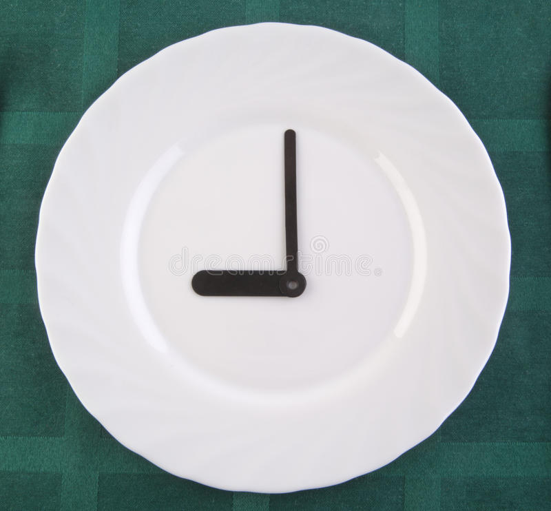 Breakfast time. Clock Lunch time clock royalty free stock photos