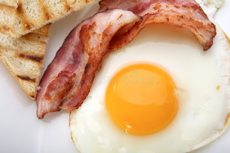 Download Breakfast - Toasts, Eggs, Bacon Stock Images - Image: 8484154