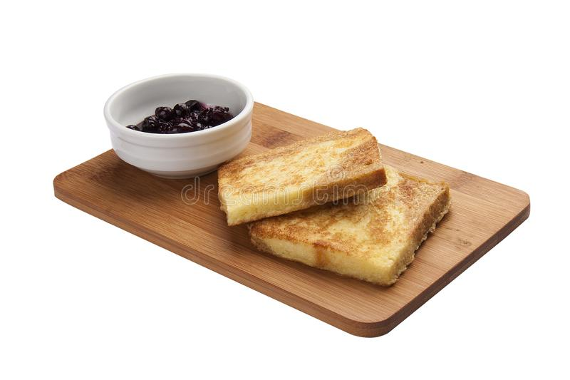 Breakfast. Toasts with jam stock images
