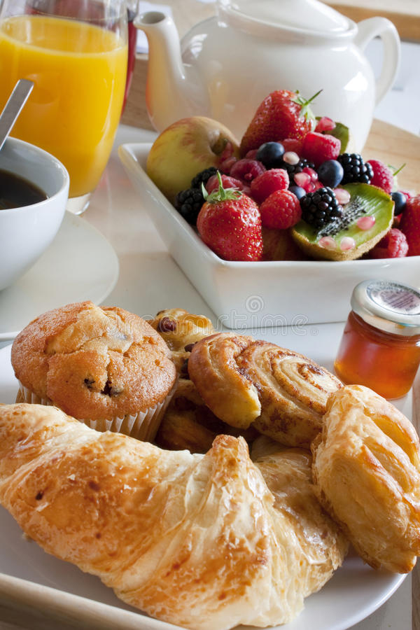 Free Breakfast Treat With Fruit And Pastries Stock Photo - 14710470