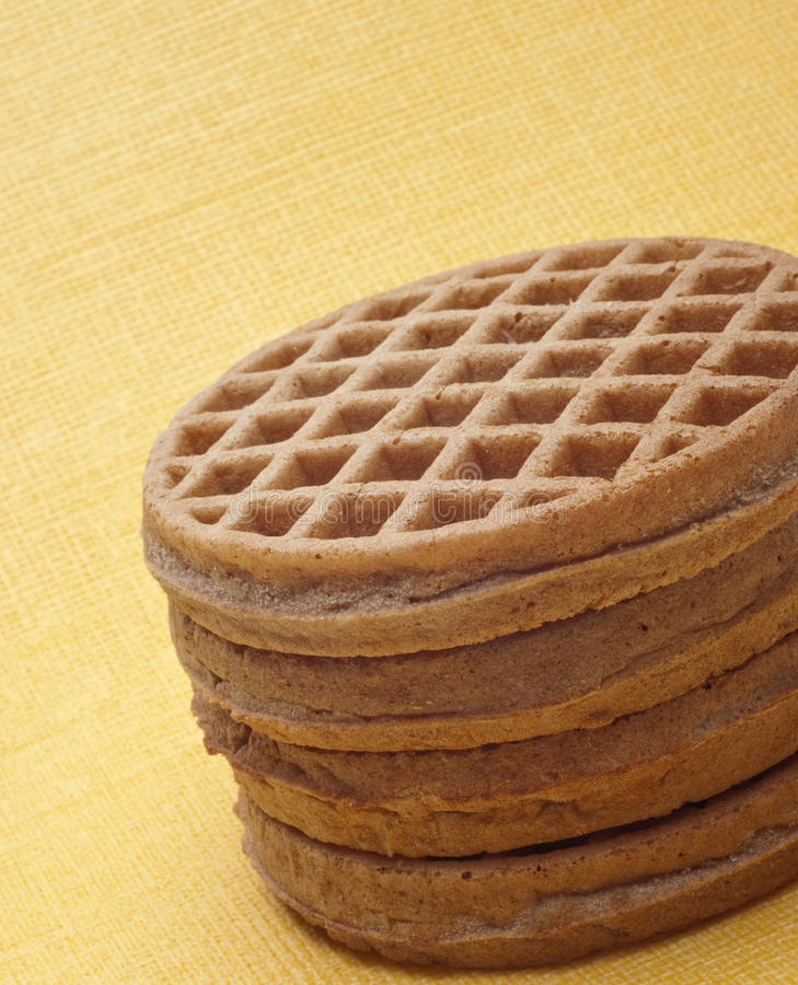 Breakfast Whole Wheat Waffles royalty free stock images