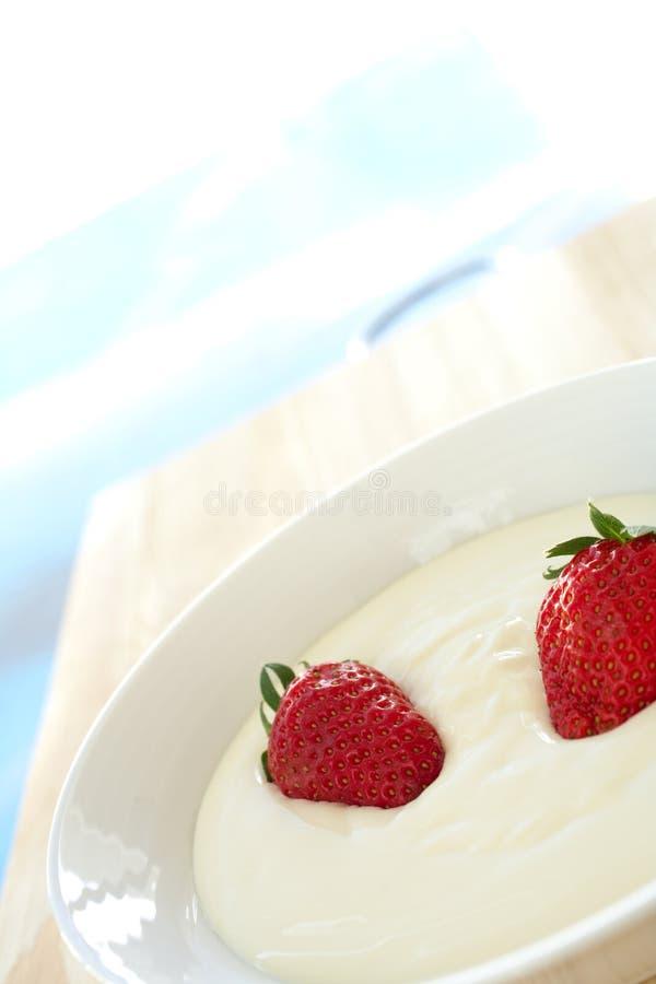 Download Breakfast Yogurt With Strawberries Stock Photo - Image: 4416432