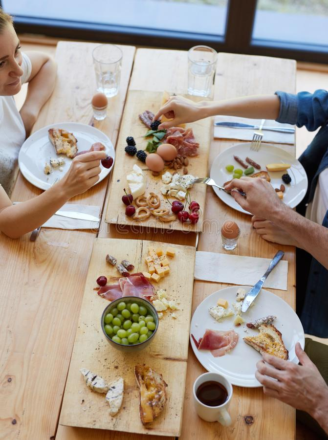 Breakfast with your best friends royalty free stock image