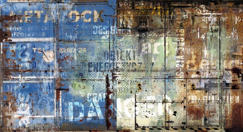 Breakground del metal de Grunge ilustración del vector