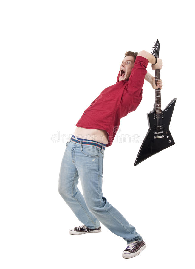 Free Breaking A Guitar Royalty Free Stock Photography - 14448447