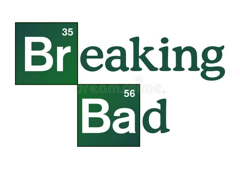 Breaking Bad-Embleem royalty-vrije illustratie