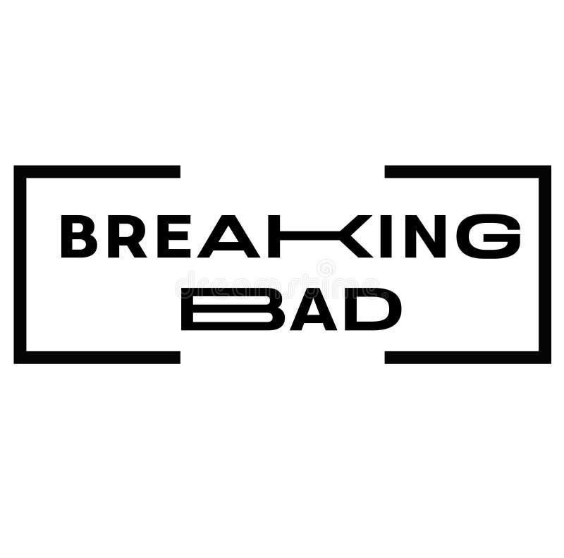 BREAKING BAD-zegel op wit stock illustratie