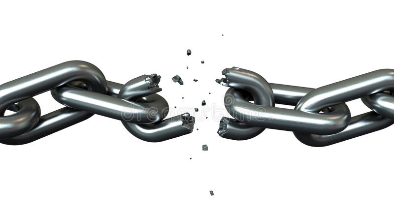 Breaking chains vector illustration