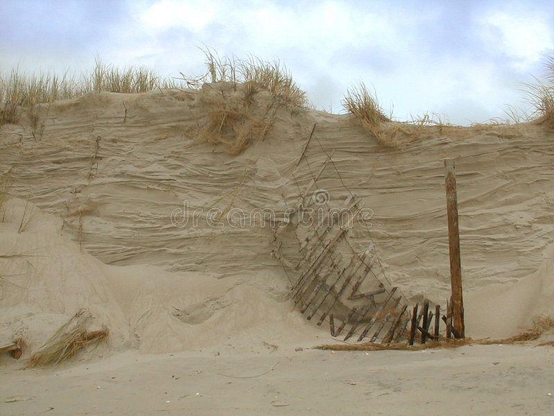 Breaking Dune stock photo