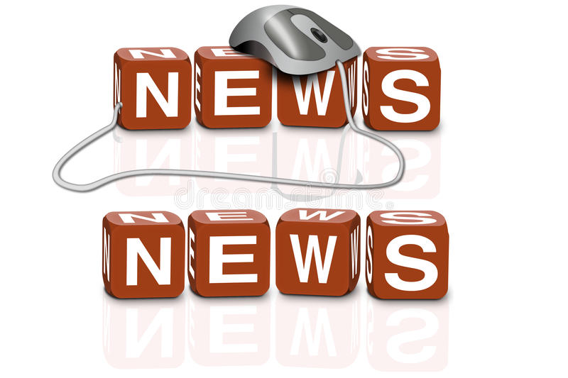Breaking hot latest news headlines information. News written in red dices with or without mouse latest information online journal breaking journalism hot latest vector illustration