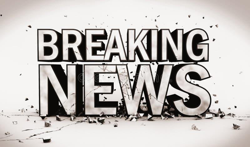 Download Breaking News stock illustration. Image of news, fake - 28858958