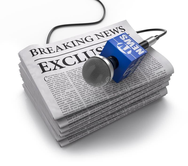 Breaking news vektor illustrationer