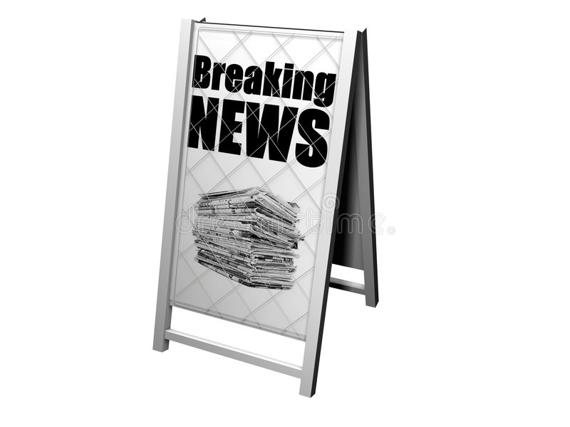 Download Breaking News Advertising Stand Stock Illustration - Image: 7001881