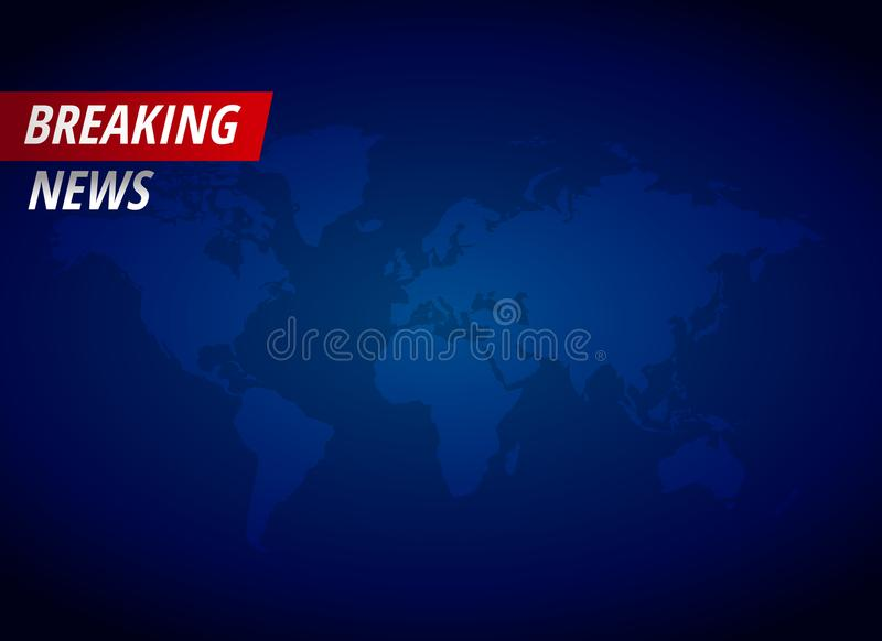 Breaking news background with text space vector illustration