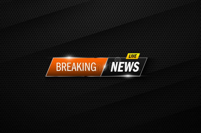 Breaking news background. Vector template for your design royalty free illustration