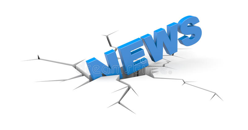 Breaking news royalty free illustration