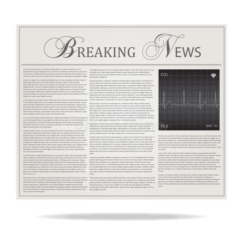 Download Breaking News Headline stock vector. Illustration of article - 26164142