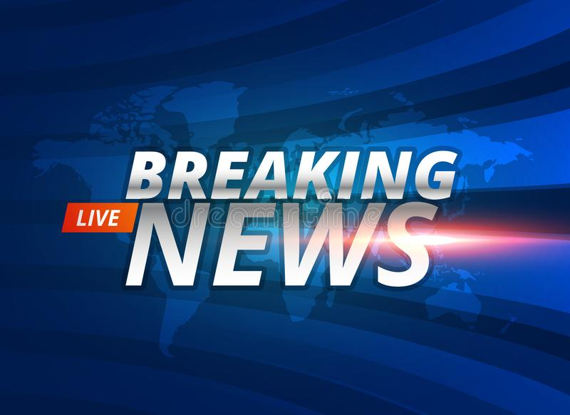 Breaking news live background concept vector illustration