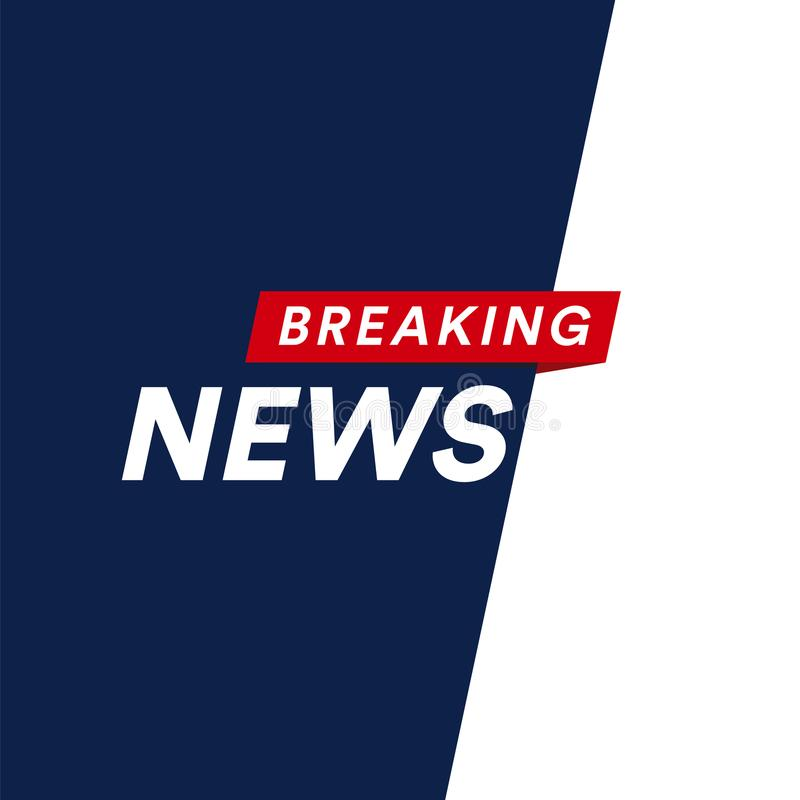 Breaking news modern concept. World news template backgorund. Vector illustration. TV screen division into 2 parts vector illustration
