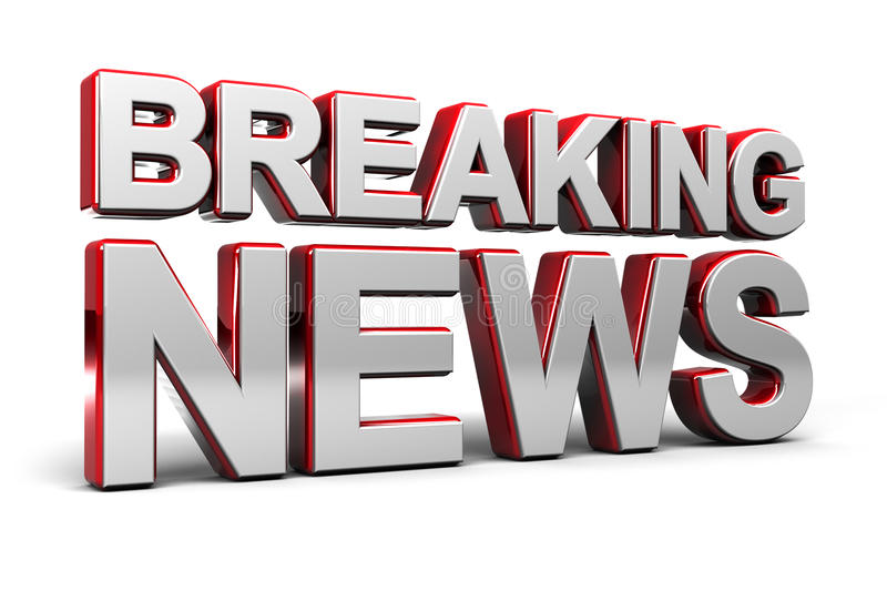 Breaking News Screen royalty free illustration