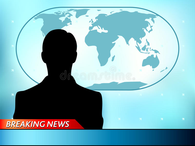 Breaking news tv royalty free illustration