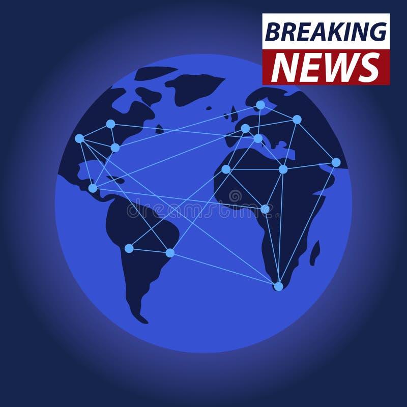 Breaking news on tv, global news. Flat design, illustration vector illustration