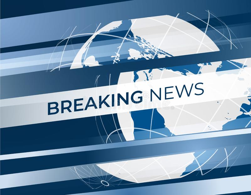 Breaking News vector background with globe for backdrop. EPS10 royalty free illustration