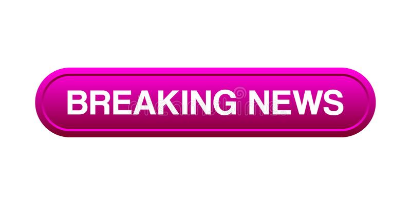Breaking news button royalty free illustration