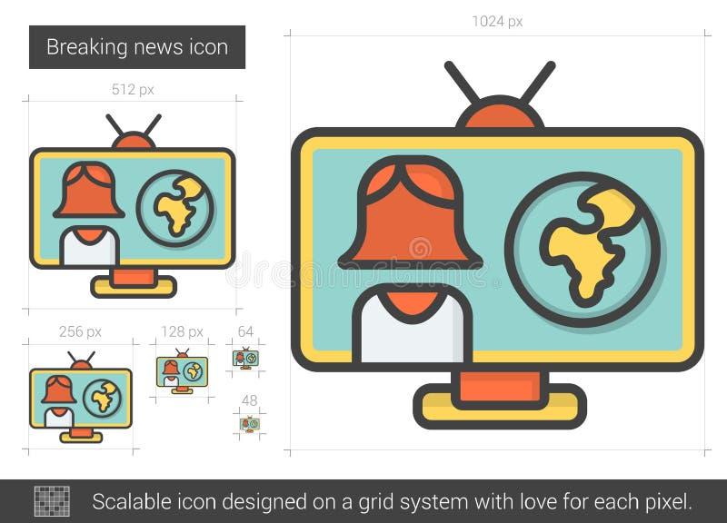 Breaking newslinje symbol vektor illustrationer