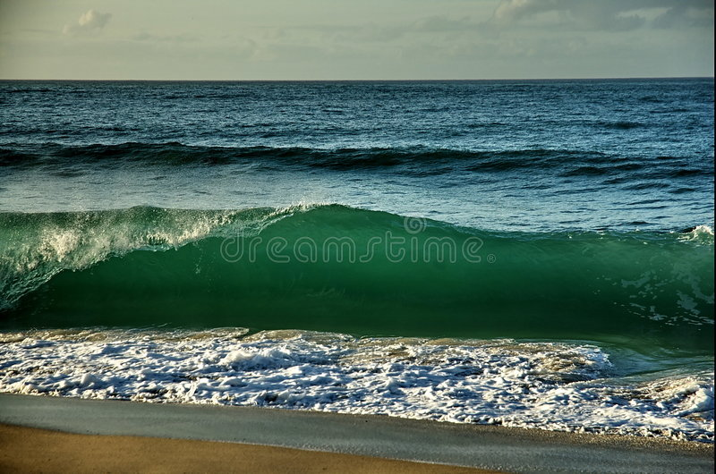 Breaking wave royalty free stock photos