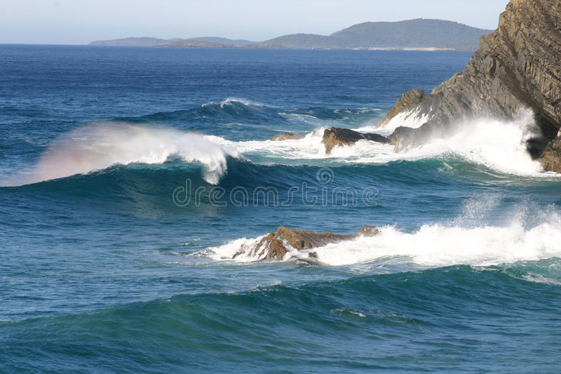 Breaking wave stock image