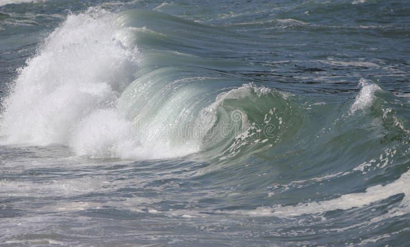 Breaking Wave Waimea Bay. A Big Hollow wave breaking on Waimea Bay the North shore of Oahu Hawaii royalty free stock image