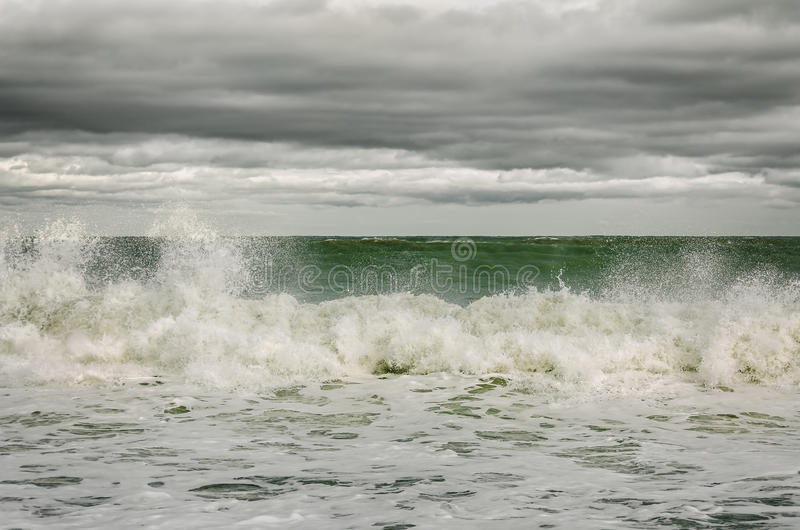 Breaking Waves. On The Black Sea stock photo