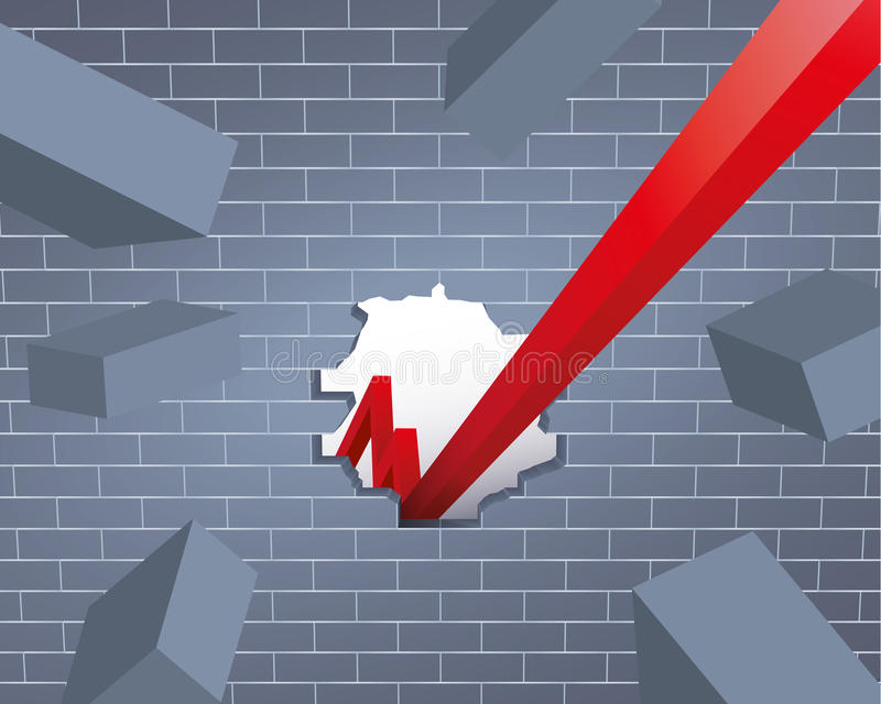 Download Breakthrough stock vector. Image of growth, development - 18026913