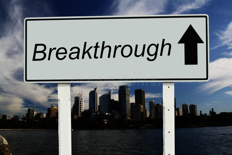 Breakthrough go straight sign royalty free stock image