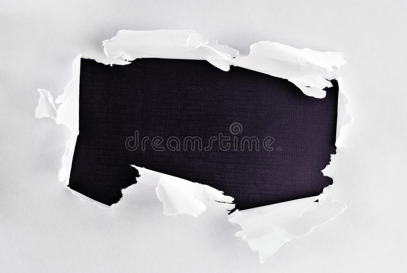 Download Breakthrough paper hole. stock image. Image of element - 22026457