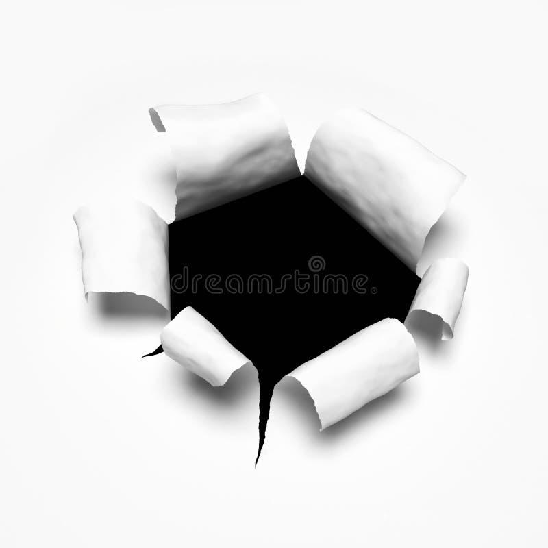Free Breakthrough Paper Hole Royalty Free Stock Photos - 30130348