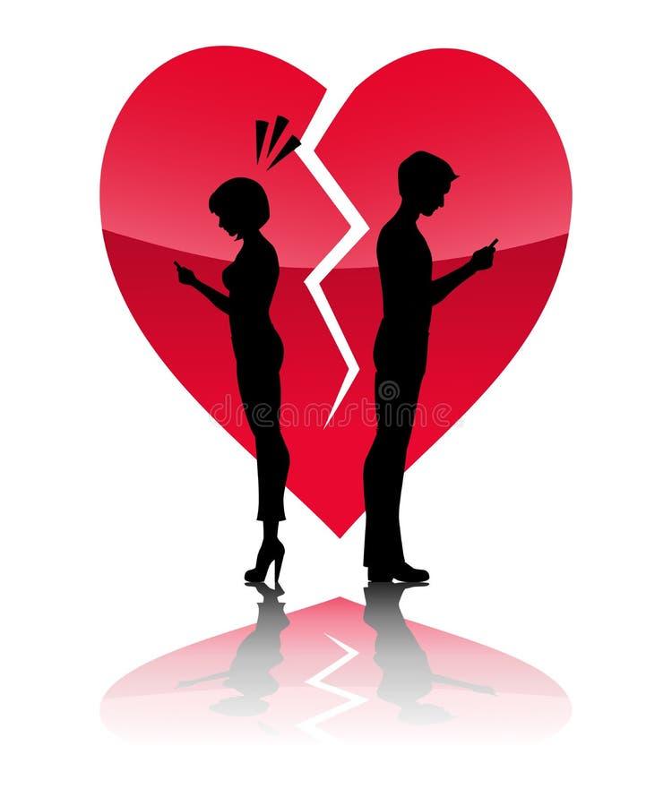 Breakup Via Text Stock Illustration. Illustration Of